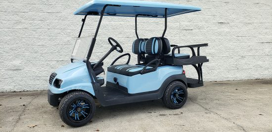 Sky Blue Golf Cart 1