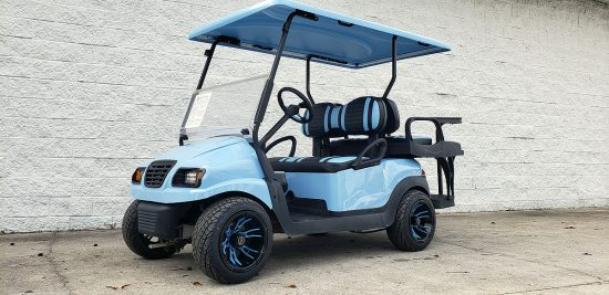 Sky Blue Golf Cart 2