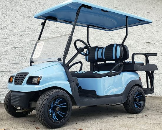 Sky Blue Golf Cart Crop